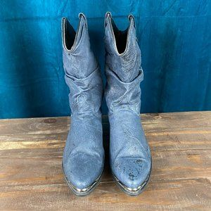 Dingo Womens Blue Western Slouch Boots